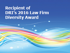 Thompson Hine received DRI's 2016 Law Firm Diversity Award, which honors a firm that demonstrates a significant commitment to diversity through policies, practices and civic contributions.
