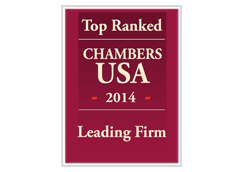 Chambers USA Top Ranked Firm 2014