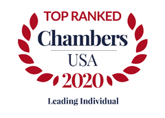 Ranked by Chambers USA as  Leading Individual