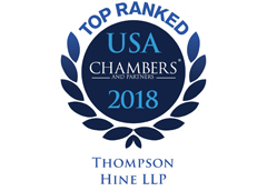 Thompson Hine Practice Ranked as a 2018 Top Ranked Chambers USA Practice