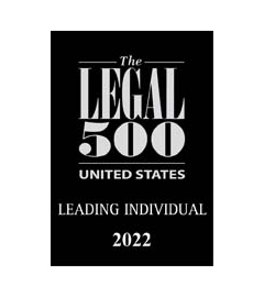 Listed in the US Legal 500 as a Leading Lawyer
