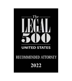 Listed in the US Legal 500 as a Recommended Lawyer