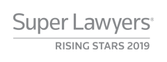 Listed as a SuperLawyer Rising Star 2019