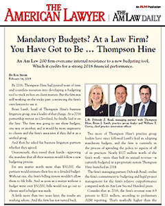 Mandatory Budgets? At a Law Firm? You Have Got to Be … Thompson HIne