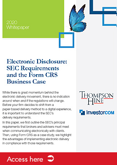 Electronic Disclosure: SEC Requirements and the Form CRS Business Case
