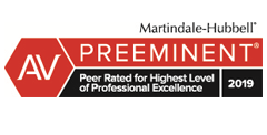 Martindale-Hubbell Preeminent Rating 2019