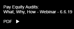 Thompson Hine Pay Equity Audits: What, Why, How – Webinar PDF